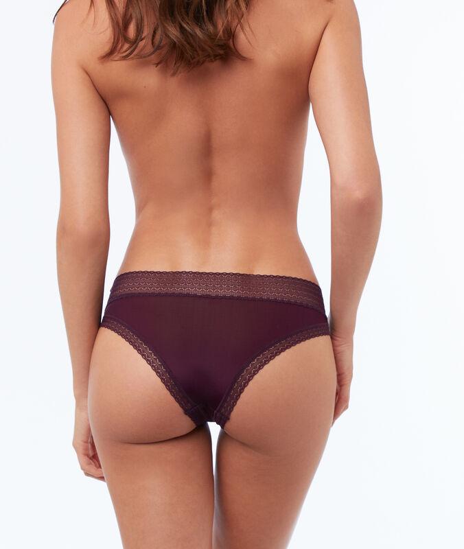 Bi-material hipsters violet.