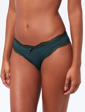 Lace-edged briefs fir.