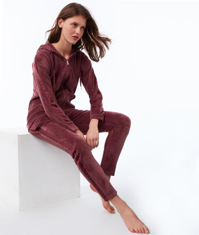 Velvet pants blackcurrant.
