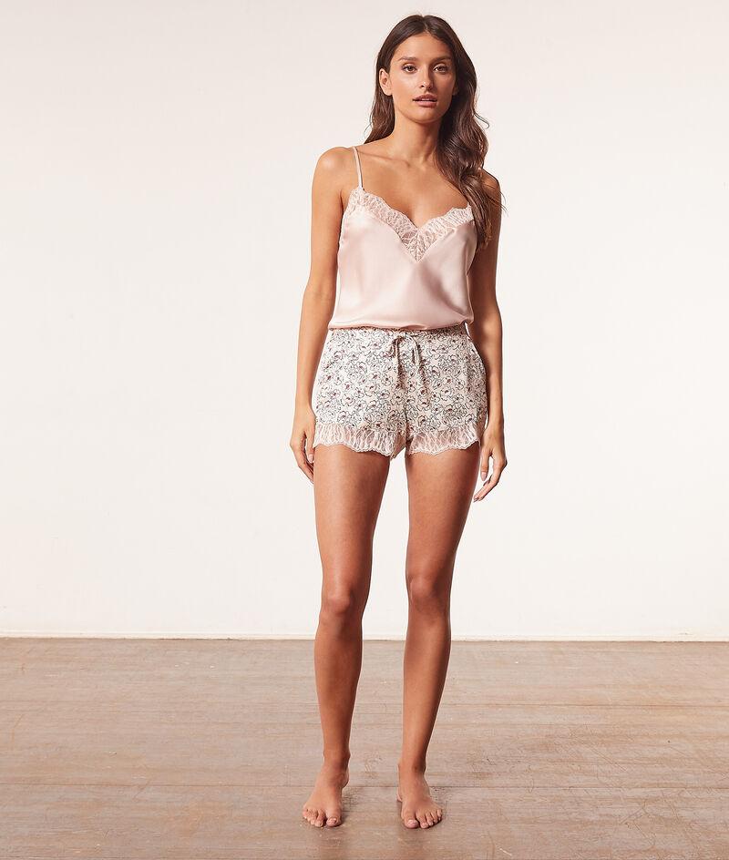 Low-cut lace camisole ;${refinementColor}