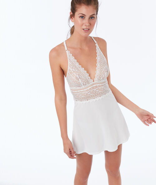 All-lace bust nightie