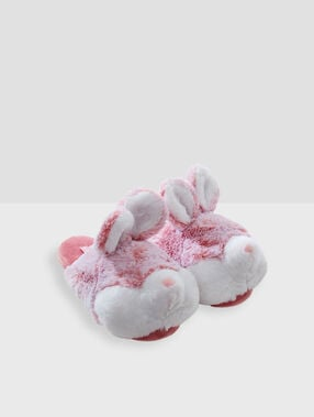3d bunny slippers pink.