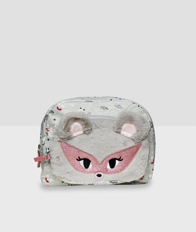 3d ear toiletry bag gray.