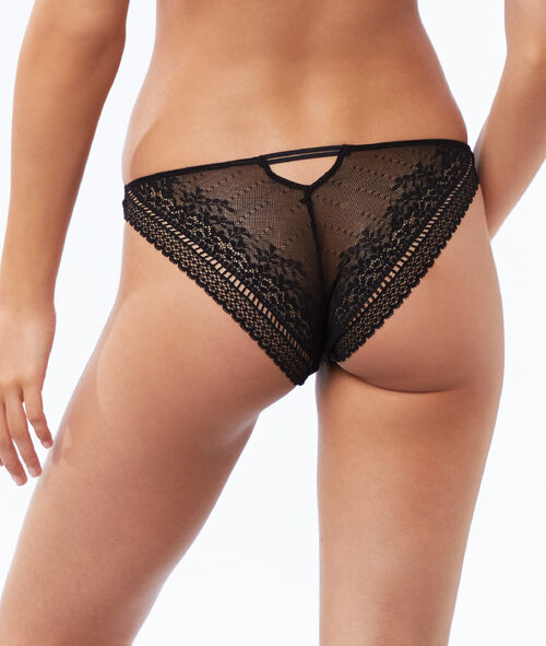 All lace panties, openwork at the back