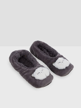 Zapatillas homewear gatos c.gris.