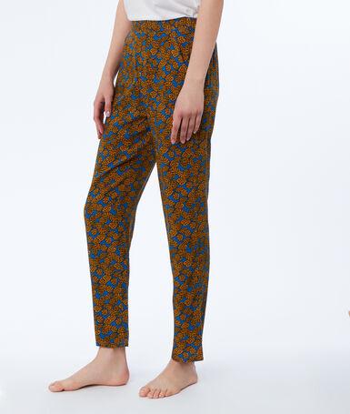 Ethnic print trousers blue.