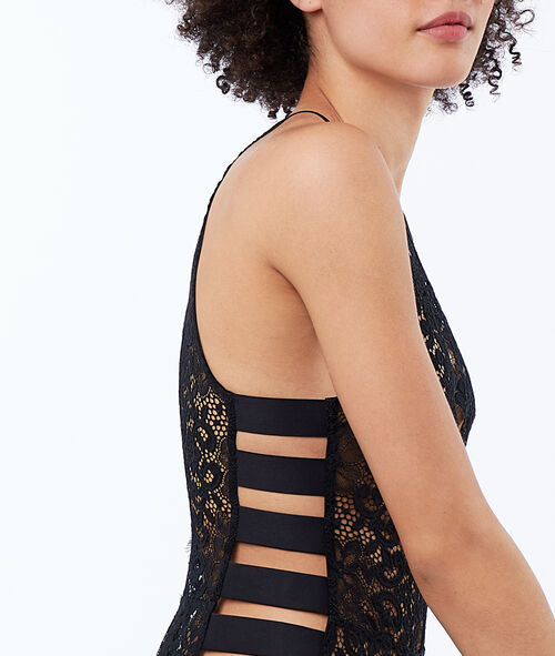 Lace bodysuit and bands