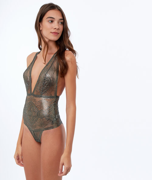 Shiny bodysuit