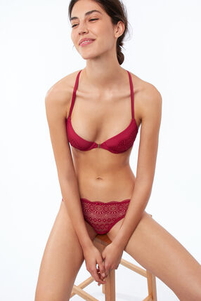 Bra no. 4 - classic padded lace bra with racer back grenadine.