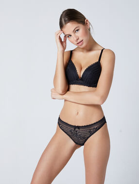 Bra no. 2 - plunging push-up bra black.