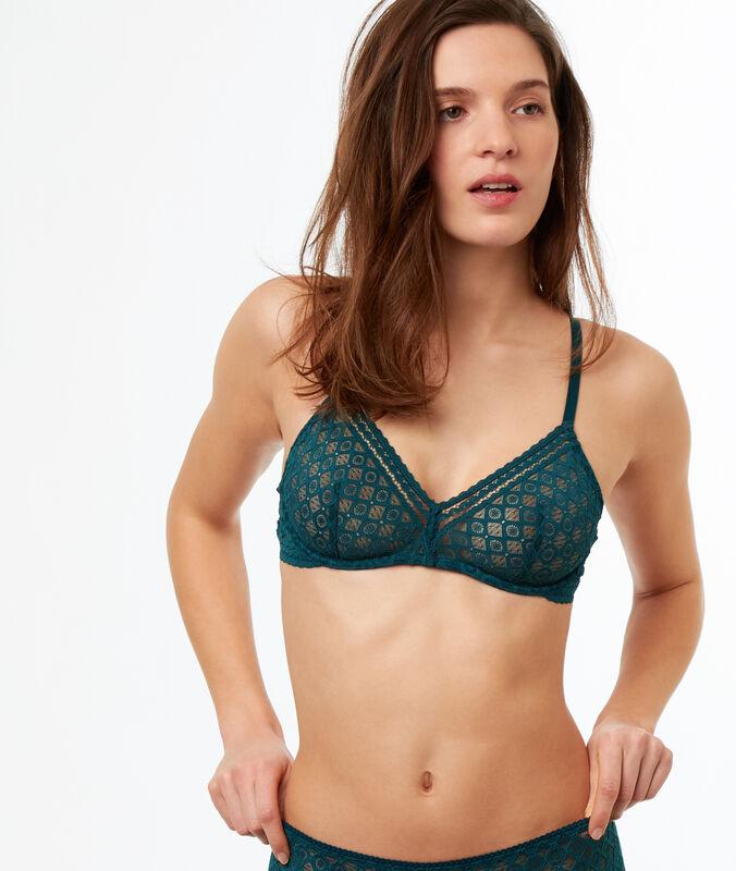 Lace bra green.