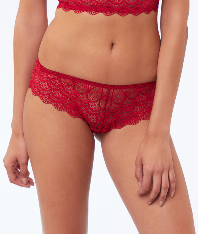 Shorty in pizzo rosso.