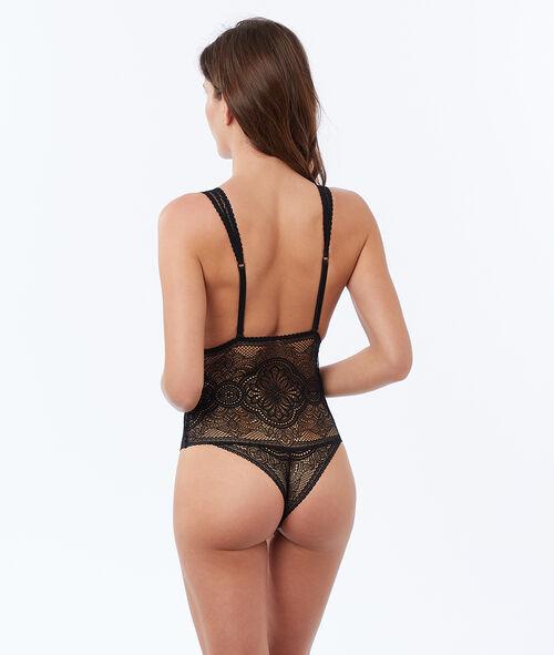 Lace tanga bodysuit