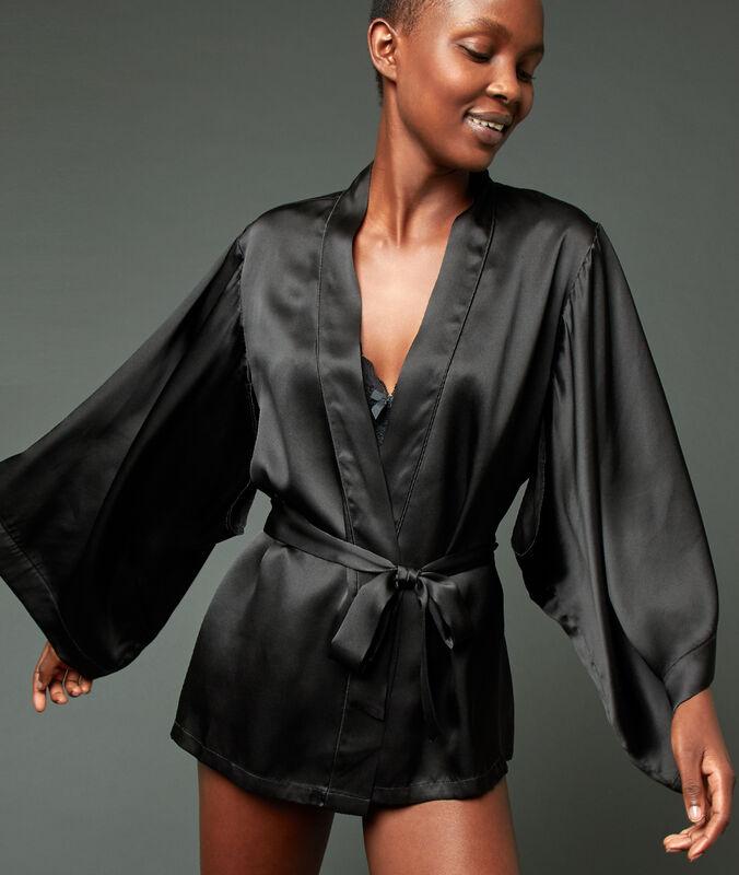 Silk kimono black.