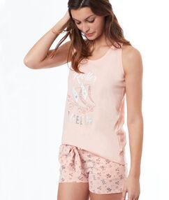 Roller-skate print shorts pink.