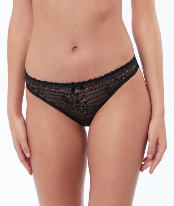 Lace briefs black.