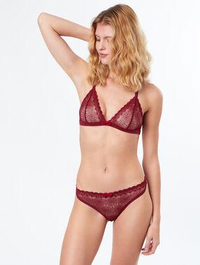 Triangle bra burgundy.