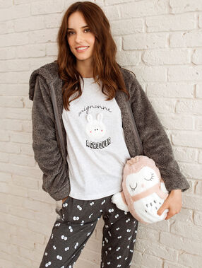 3 pieces pyjama grey.