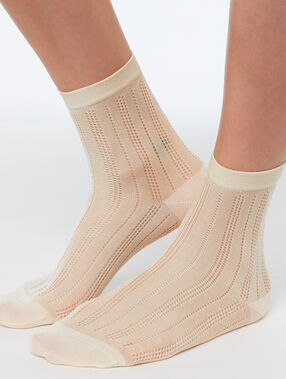 Viscose socks off-white.