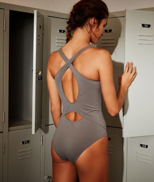 Crossed back swimsuit