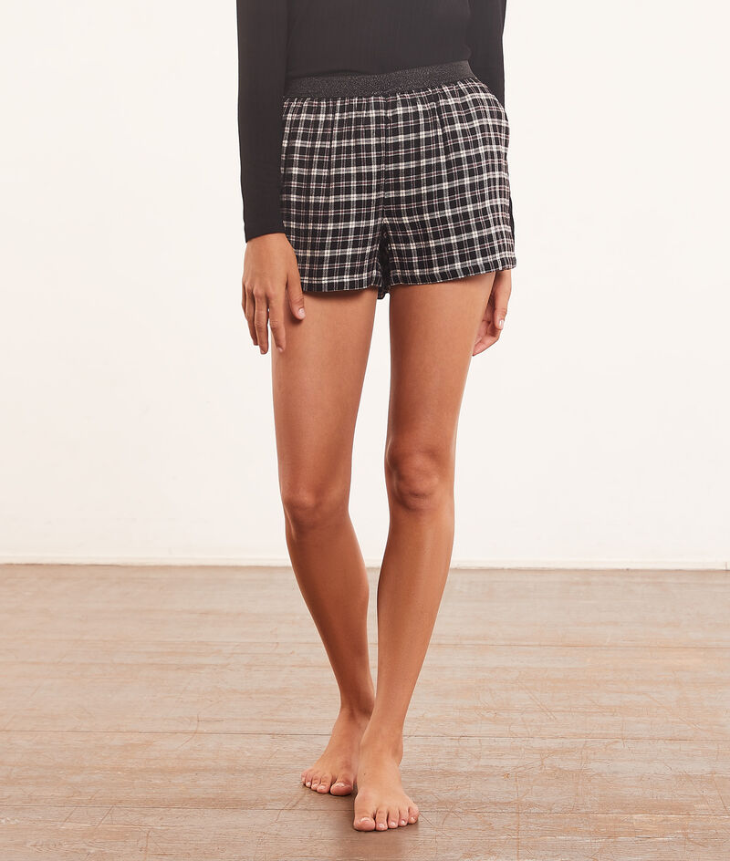 checked pyjama shorts ;${refinementColor}