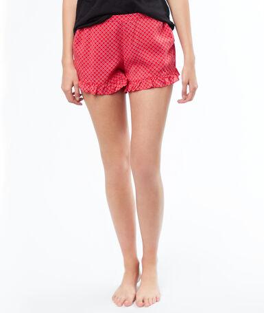 Printed pyjamashort red.