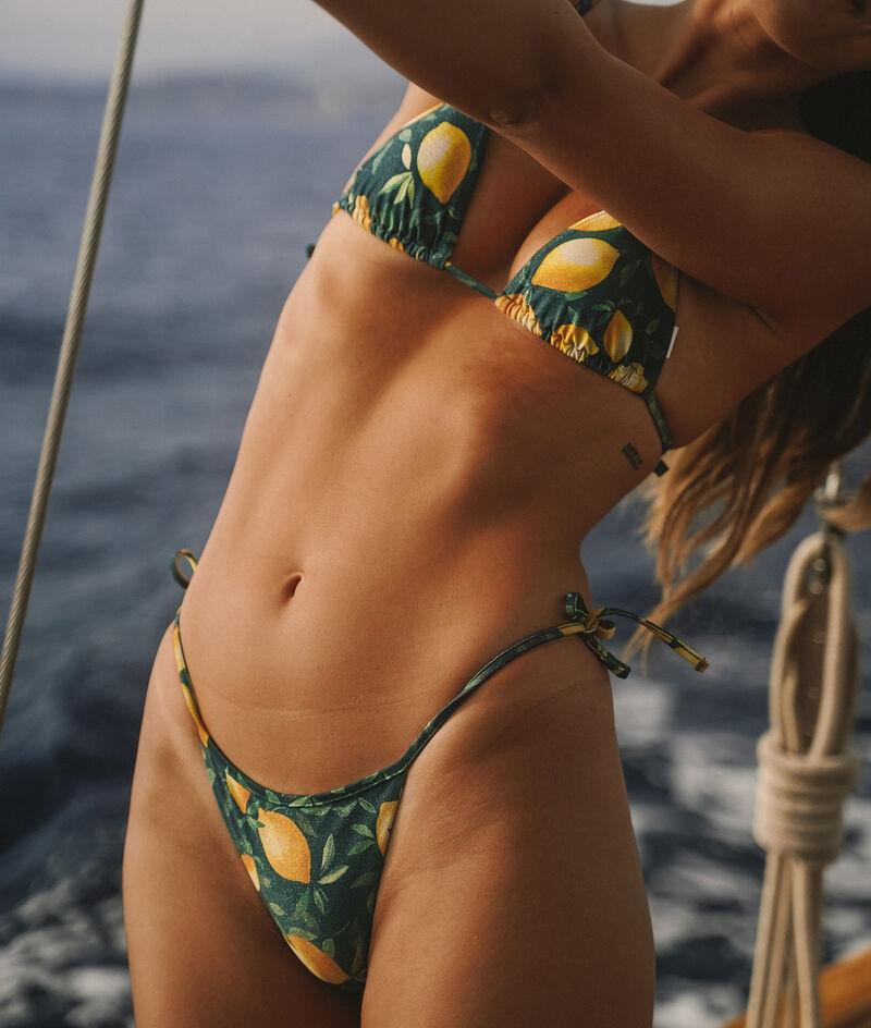 Side tie bikini bottoms ;${refinementColor}
