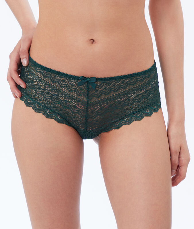 Shorty in pizzo verde pino.