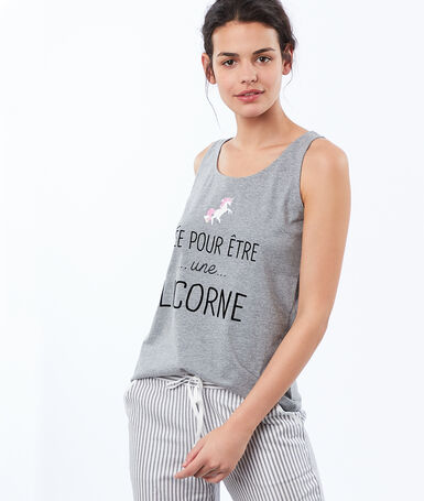 Message print top gray.