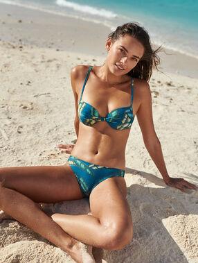 Simple bikini bottoms green blue print.