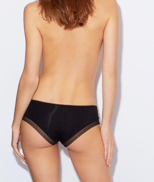 Modal briefs with a lace band