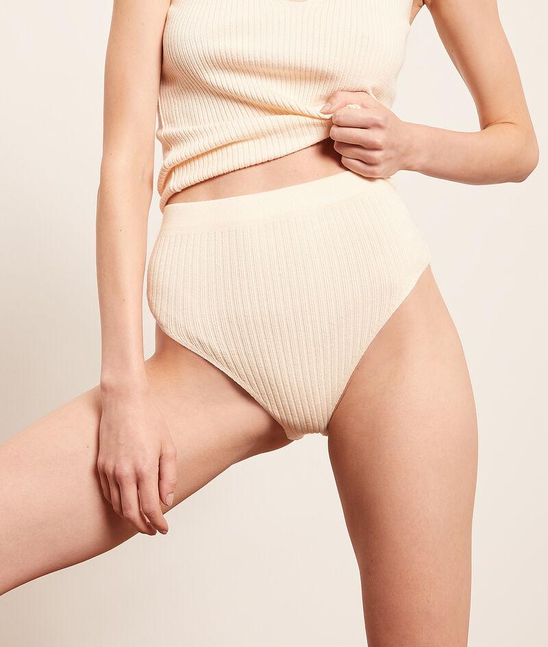Mesh high waist panties ;${refinementColor}