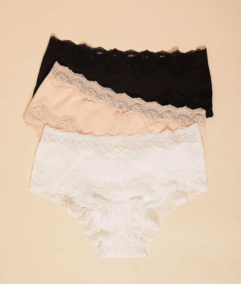 Pack of 3 cotton shorts;${refinementColor}