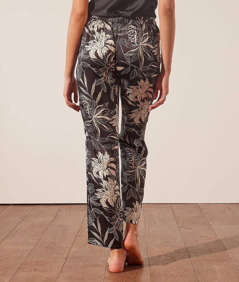 Pantalón pijama estampado floral;${refinementColor}