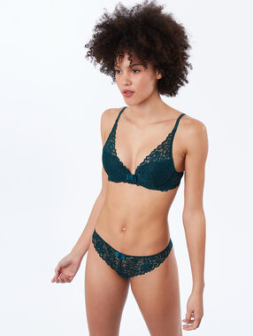Bra no. 3 - lace triangle push-up bra fir.