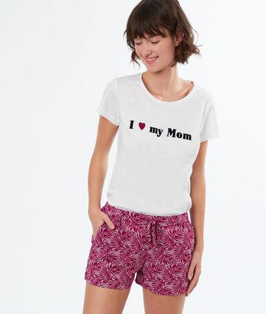 Printed pyjamashort purple.
