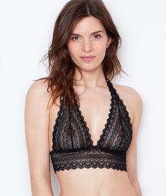 Lace bra black.