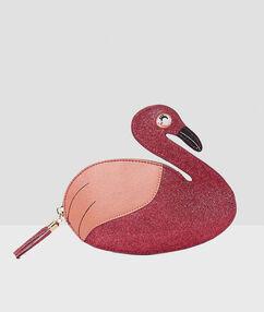 Pink flamingo clutch pink.