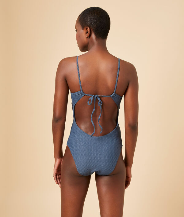 One piece swimwear, removable pads;${refinementColor}