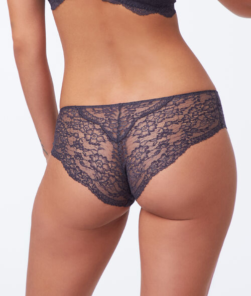Brazilian knickers with lace detailing