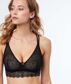 Lace bra black.