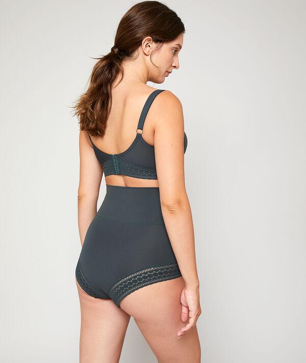 High waist briefs, folding belt;${refinementColor}