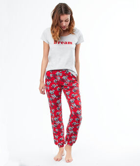 Printed pyjama pants red.