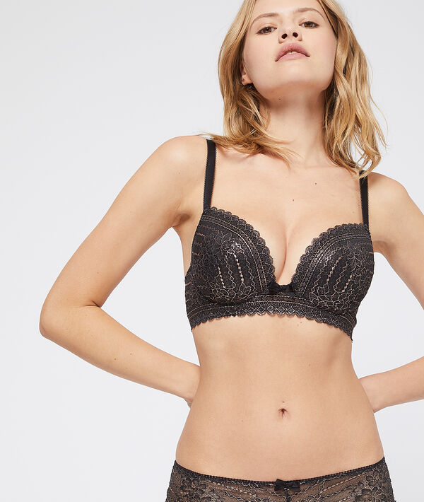 Bra n°5 - light padded metallic bra, cups d and e
