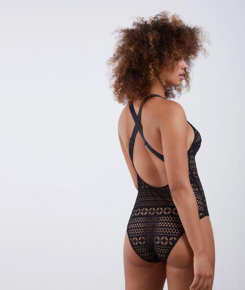 Lace thong bodysuit