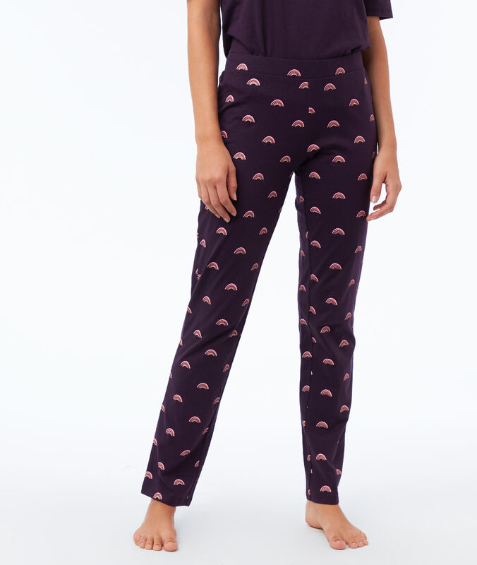 Printed trousers violet.