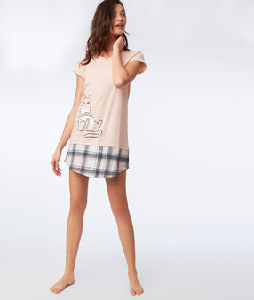 Slogan nightdress peach.