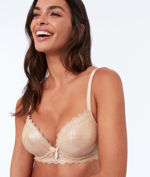 Bra n°1 - lace plunging push-up bra