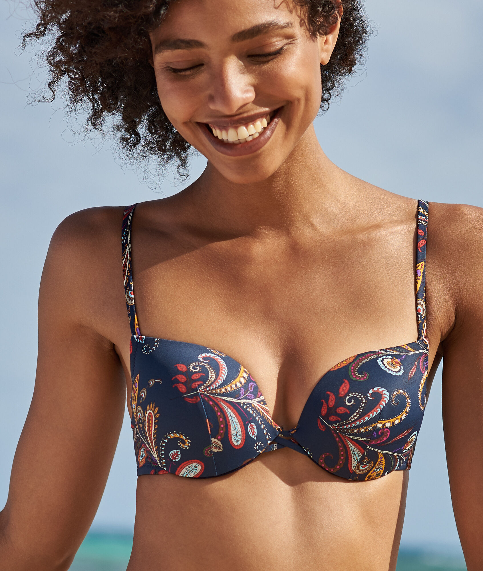 super populaire db849 bcae9 Swimwear push-up bra - WINONA - NAVY PRINTED - Etam