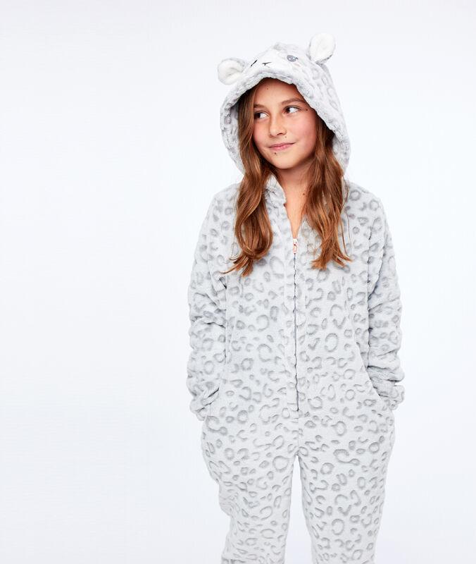 Combinaison pyjama panthère enfant gris.